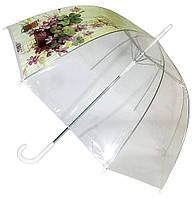 Прозрачный зонт-трость, купол 85 см