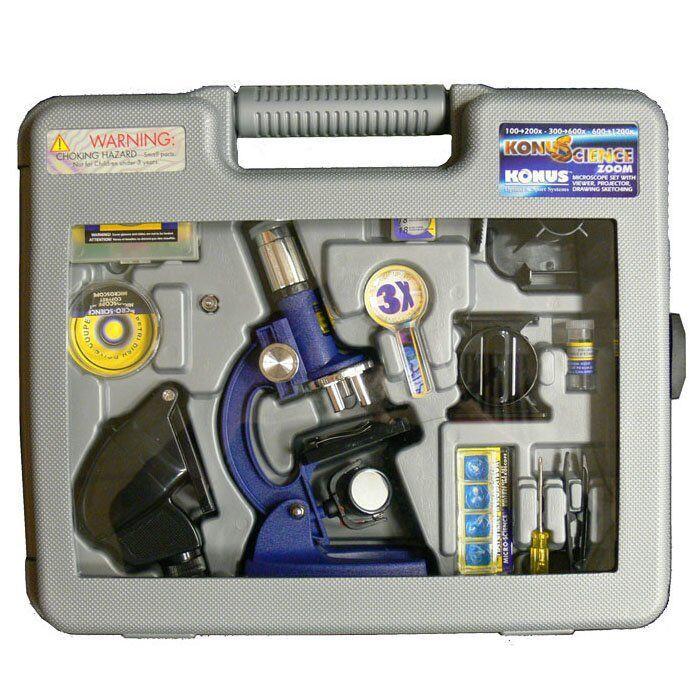 Микроскоп Konus Konuscience 100x-1200x в кейсе (5020)