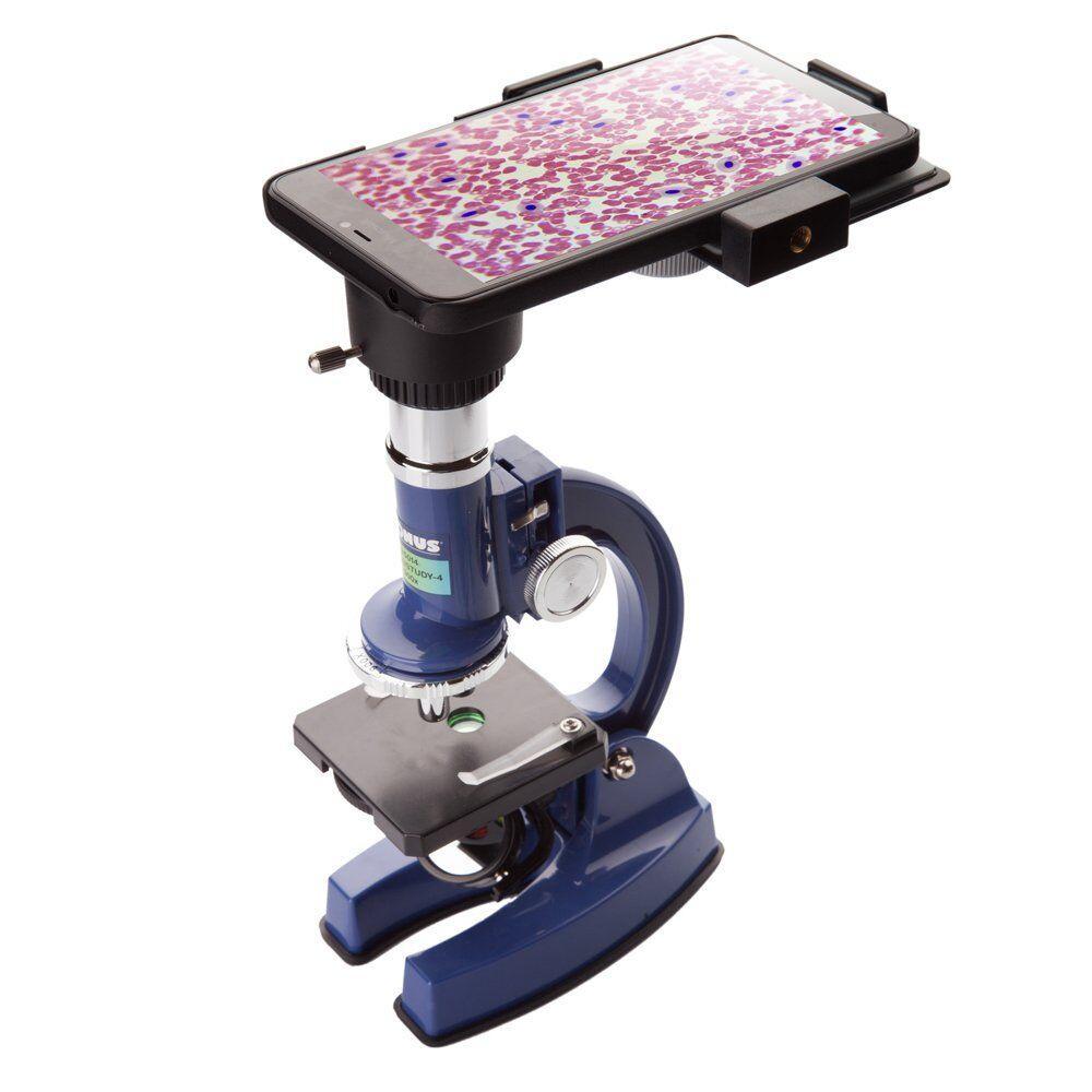 Микроскоп Konus Konustudy-4 100x, 450x, 900x с адаптером для смартфона (5014)