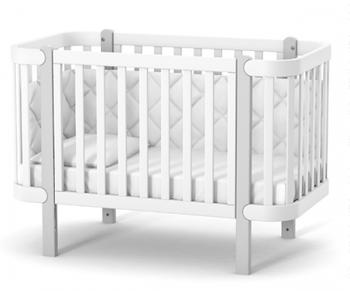 Дитяче ліжко Верес Соня ЛД5 Монако Біло-Сіре
