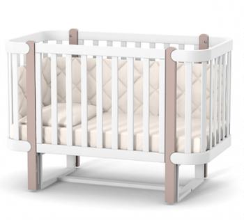 Детская кроватка Верес Соня Монако ЛД5 с маятниковым механизмом Капучино-Белый