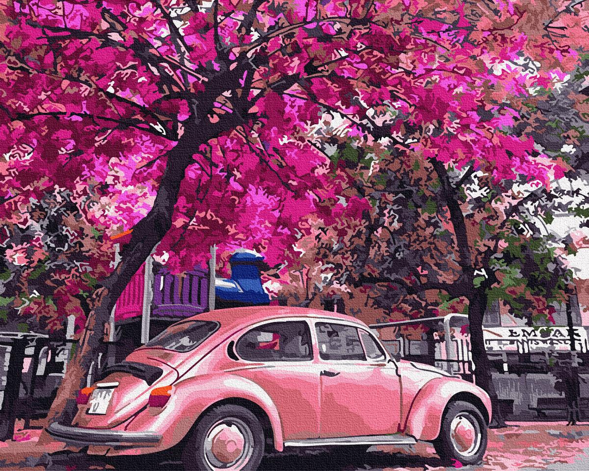 Картина по номерам Никитошка Ретро авто 40*50 см (без коробки) арт.BK-GX32366