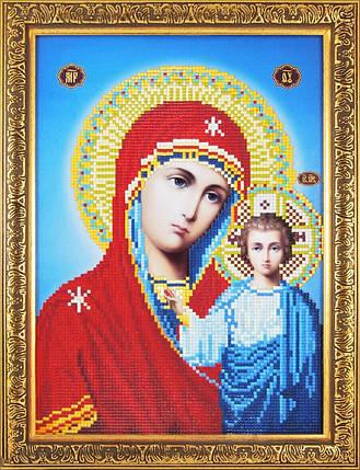 40005 Набір алмазної мозаїки Казанська Божа Матір, фото 2