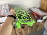 Скейт Penny Board, с широкими светящимися колесами Пенни борд, пенниборд детский , от 4 лет, Камуфляж, фото 2