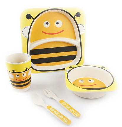 "Набор посуды из бамбука ""Пчелка"" 5 предметов, фото 2"