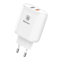 Адаптер мережевий BASEUS Bojure |2USB, 3.0 A , QC3.0, 18W|
