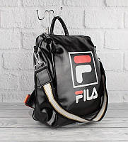 Рюкзак-сумка кожзам черный Fila 51078, фото 1