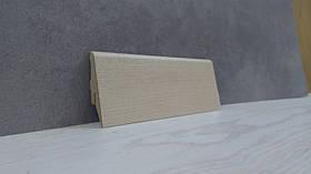 Плинтус МДФ напольный под дерево Клен 19*52*2800, бежевый