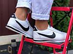 Женские кроссовки Nike Cortez (бело-черные) 9795, фото 3