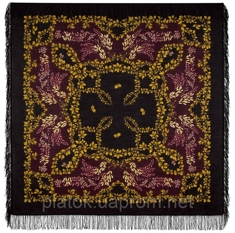 Горобина 352-20, павлопосадский вовняну хустку з вовняної бахромою