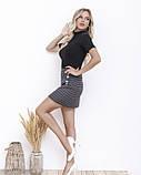 Принтованная мини юбка с пуговицами, фото 2
