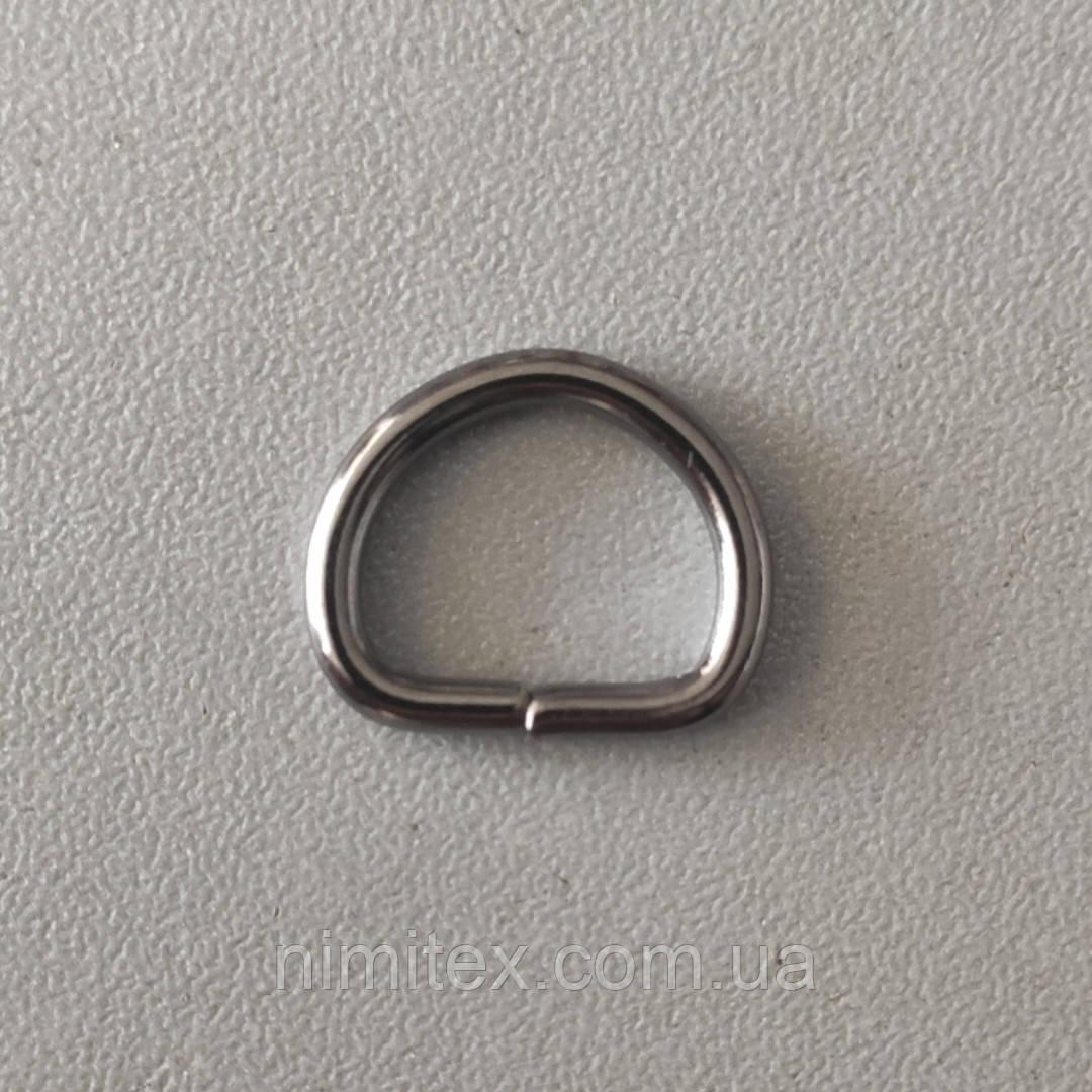 Полукольцо литое 13 мм черный никель