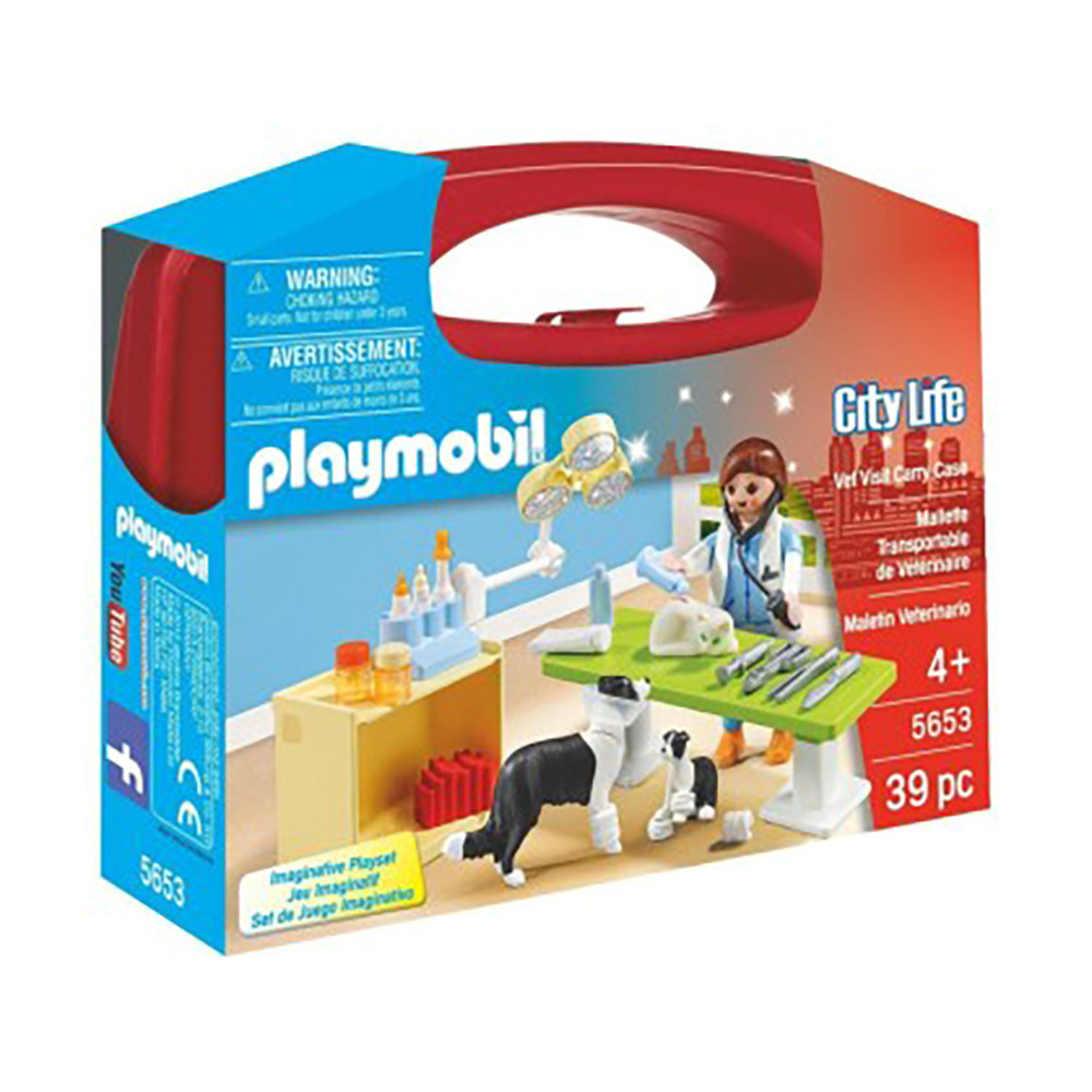 """Игровой набор """"Визит к ветеринару"""", кейс, 39 эл. Playmobil (4008789056535)"""