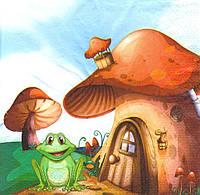 Салфетка декупажная Дом лягушонка 5203