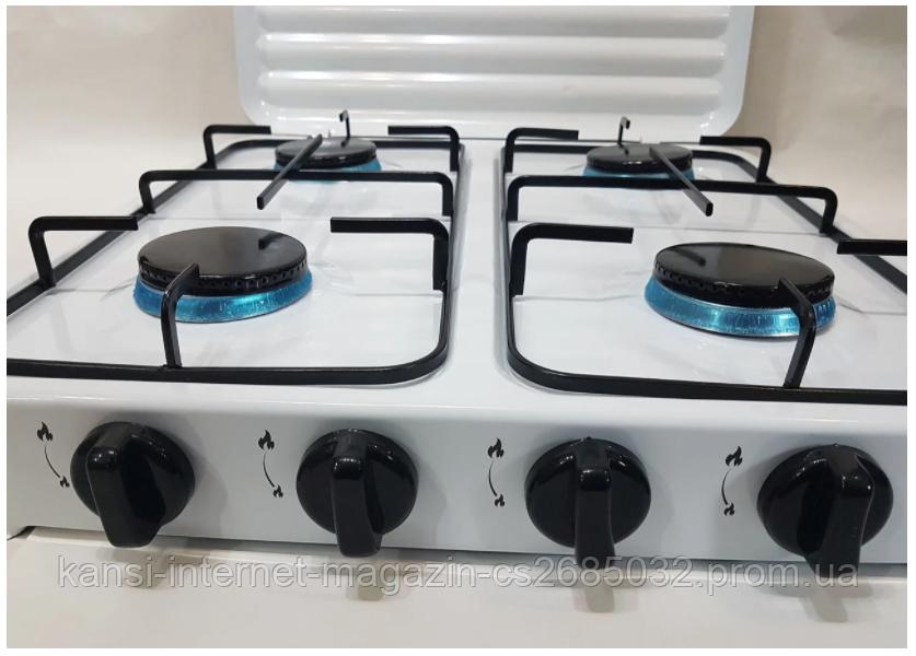 Газовая плита на 4 конфорки DOMOTEC MS 6604,плита кухонная