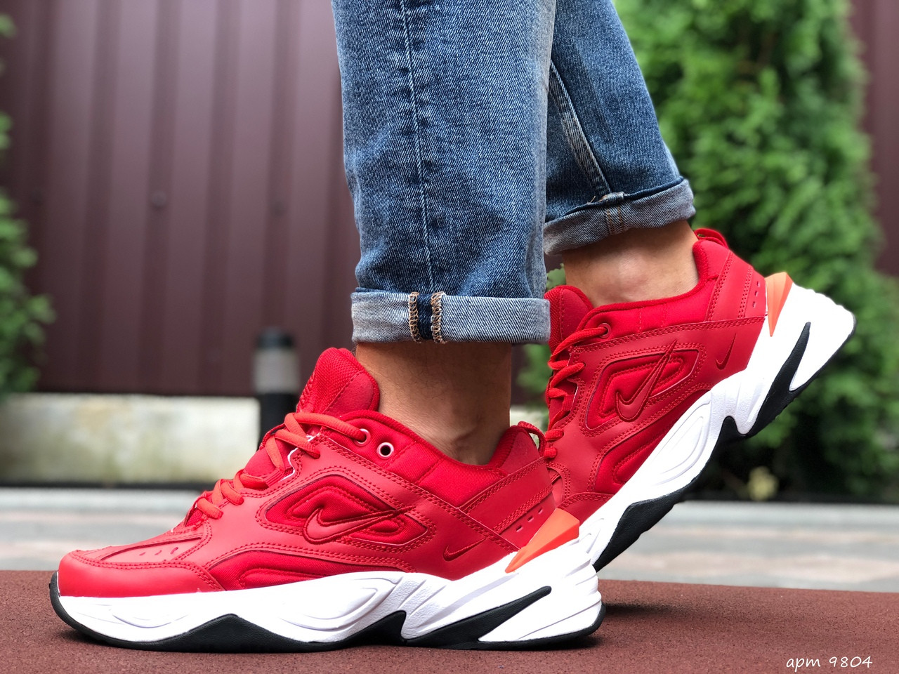 Чоловічі кросівки Nike М2К Tekno (червоні) 9804