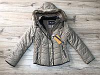 Утепленная куртка на синтепоне со съемным капюшоном( флисовая подкладка). 15/16 лет.