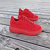 Червоні Кросівки Alexander Mcqueen на товстій підошві демисезон демі на товстій підошві замша еко, фото 4