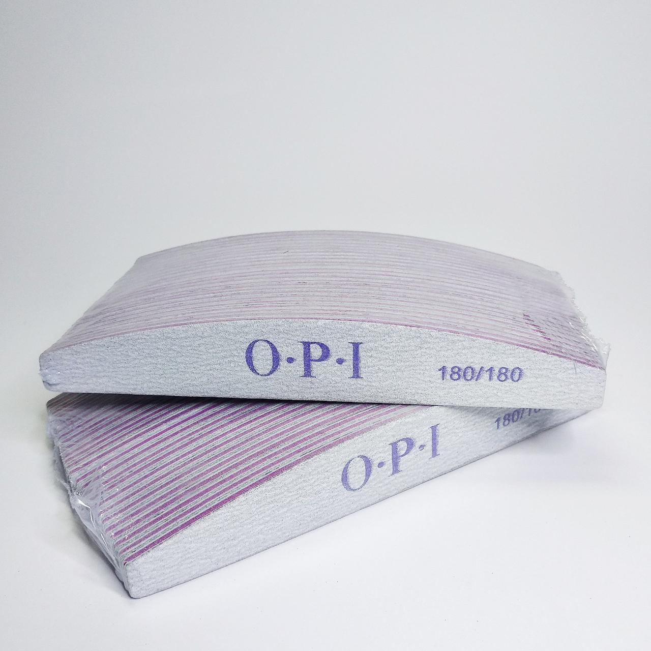 Пилочка для ногтей OPI 180/180 лодочка, 50 шт