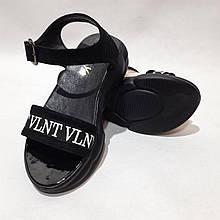37 р. Босоніжки жіночі, спортивні сандалі шкіряні Чорний Остання пара