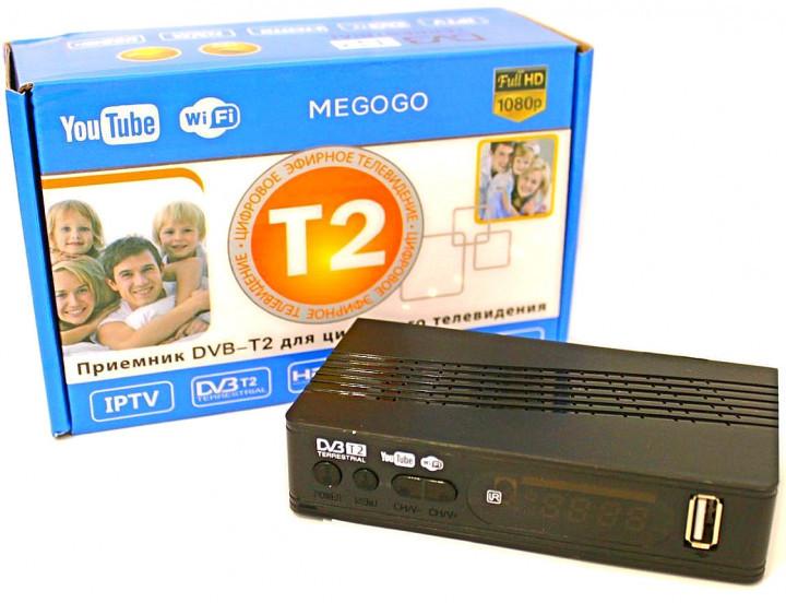 Тюнер T2 приставка с просмотром YouTube IPTV WiFi HDMI USB MEGOGO питание 12В и 220В