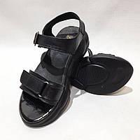 Босоножки женские, кожаные летние сандали р. 37 Черный последняя пара
