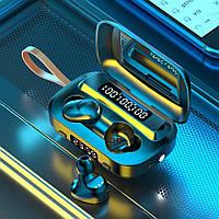 Беспроводные Bluetooth наушники M13 TWS Stereo. Индикатор заряда - LED Display. Фонарик часы
