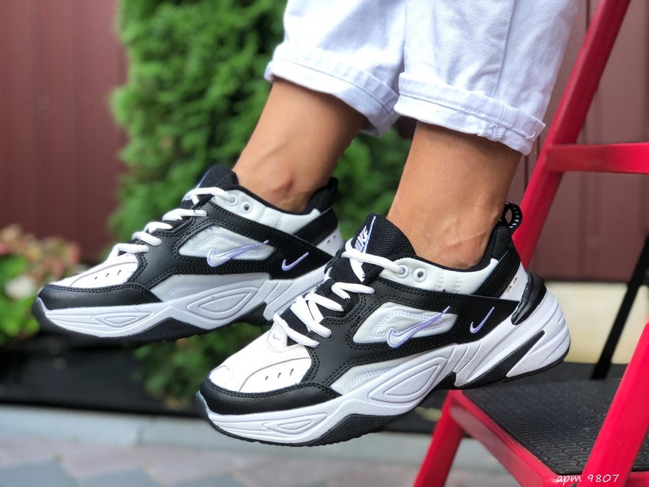 Жіночі кросівки Nike М2К Tekno (біло-чорні) 9807