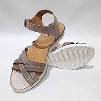 Босоножки женские, летние сандали кожаные р. 38 Коричневые последняя пара