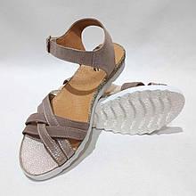 38 р Босоніжки жіночі, літні сандалі шкіряні остання пара