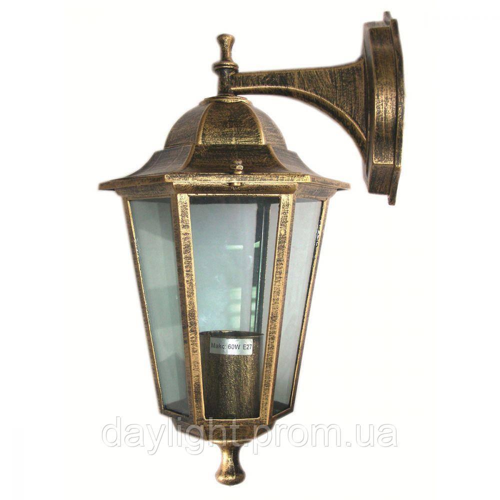 Фасадный светильник Lemanso PL6102 античное золото, металл