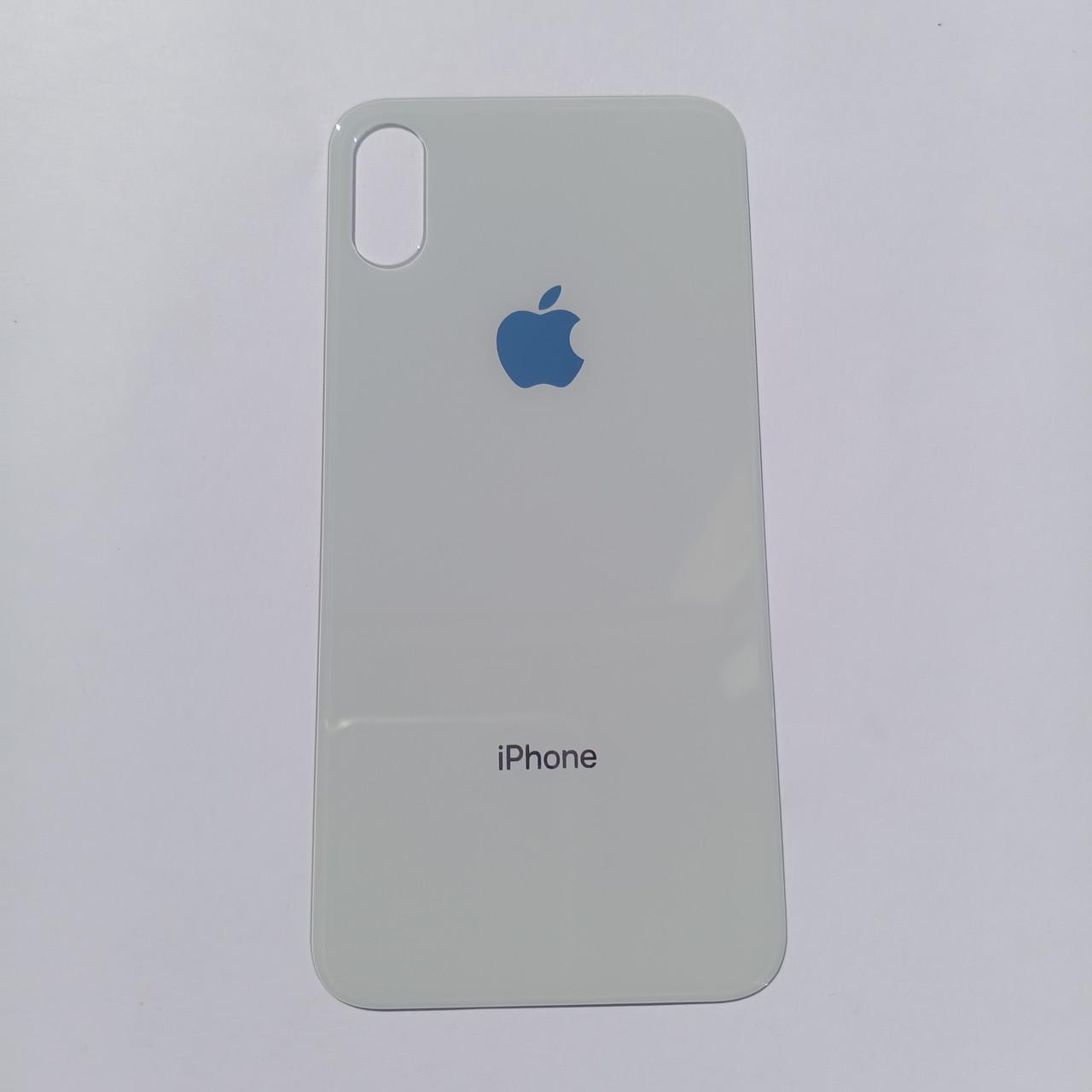 Задня панель корпуса Apple iPhone XS Silver Big Hole