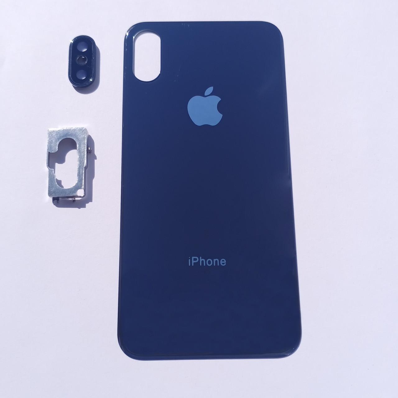 Задня панель корпусу Novacel для Apple iPhone X Чорна Big Hole
