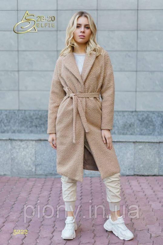 Женское Пальто Букле на запах