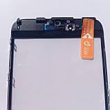 Скло корпусу Novacel для Apple iPhone 6S Plus з рамкою OCA плівкою Black, фото 3
