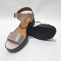 Босоножки женские, сандали кожаные летние р. 36 37 38 39 Пудра