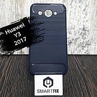 Протиударний чохол для Huawei Y3 (2017) (CRO-U00) Ultimate Синій