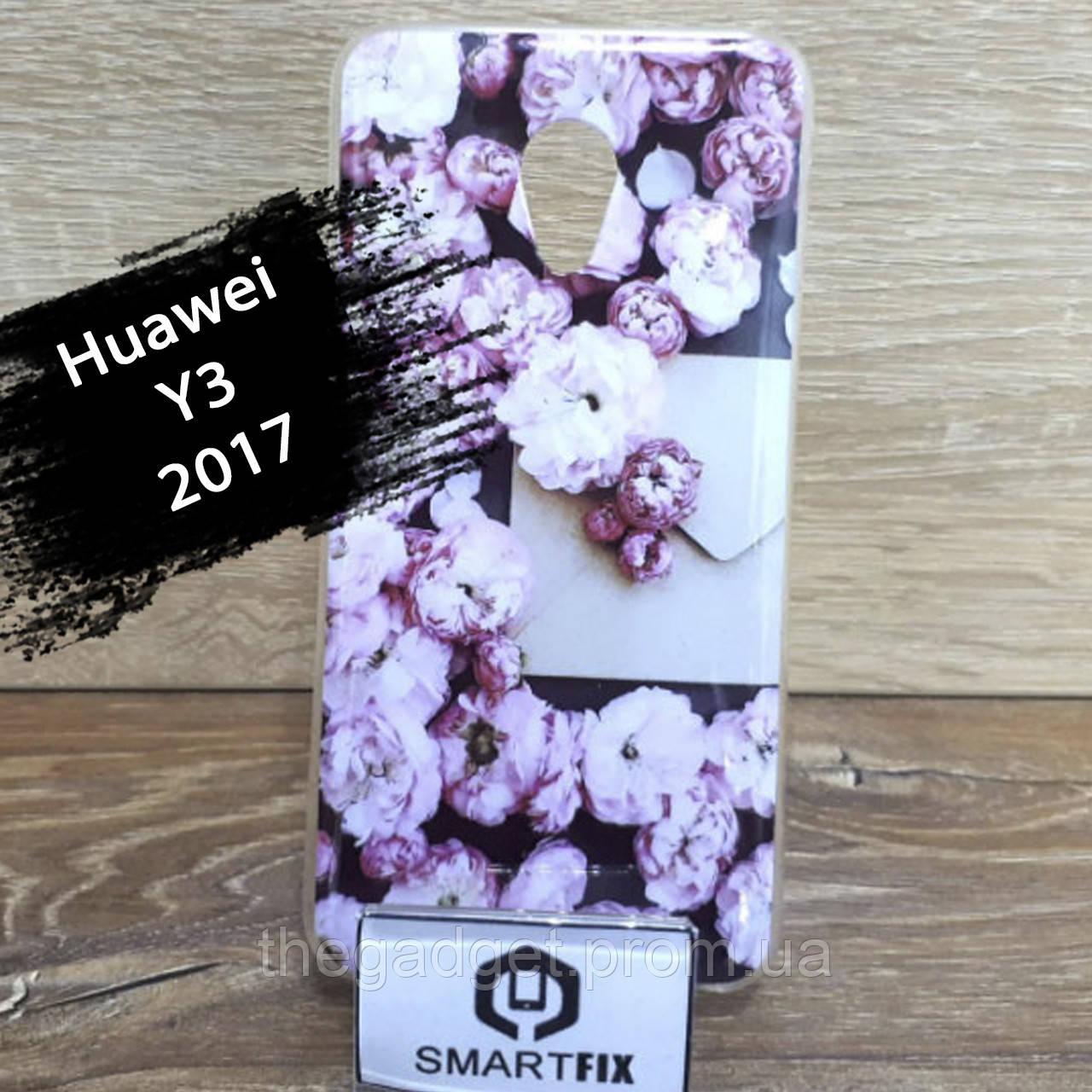 Переливається чохол для Huawei Y3 (2017) (CRO-U00) Біла Ромашка