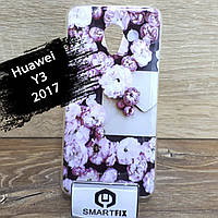 Переливається чохол для Huawei Y3 (2017) (CRO-U00) Біла Ромашка, фото 1