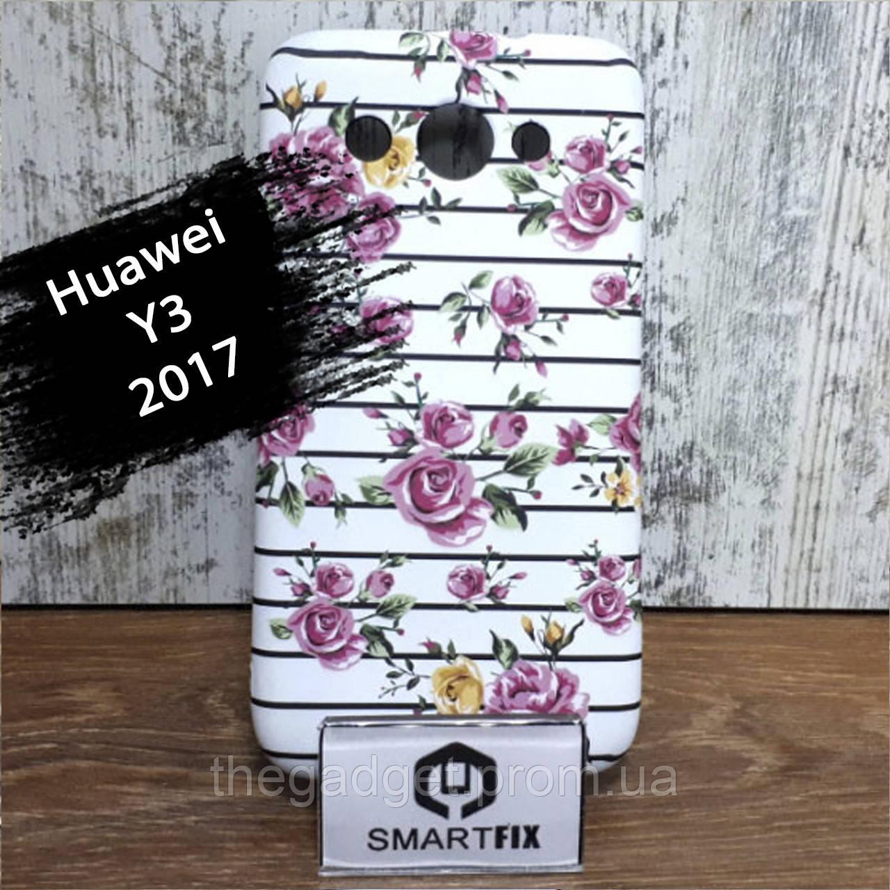 Чехол с рисунком для Huawei Y3 (2017) (CRO-U00)