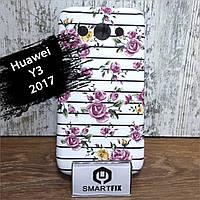 Переливається чохол для Huawei Y3 (2017) (CRO-U00) Рожева Квітка