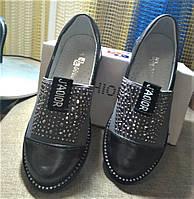 Стильные туфли для девочки JONG-GOLF графит 27, 28, 29, 30 р-ры