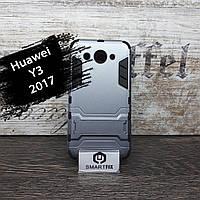 Противоударный чехол для Huawei Y3 (2017) (CRO-U00) Honor Серый, фото 1