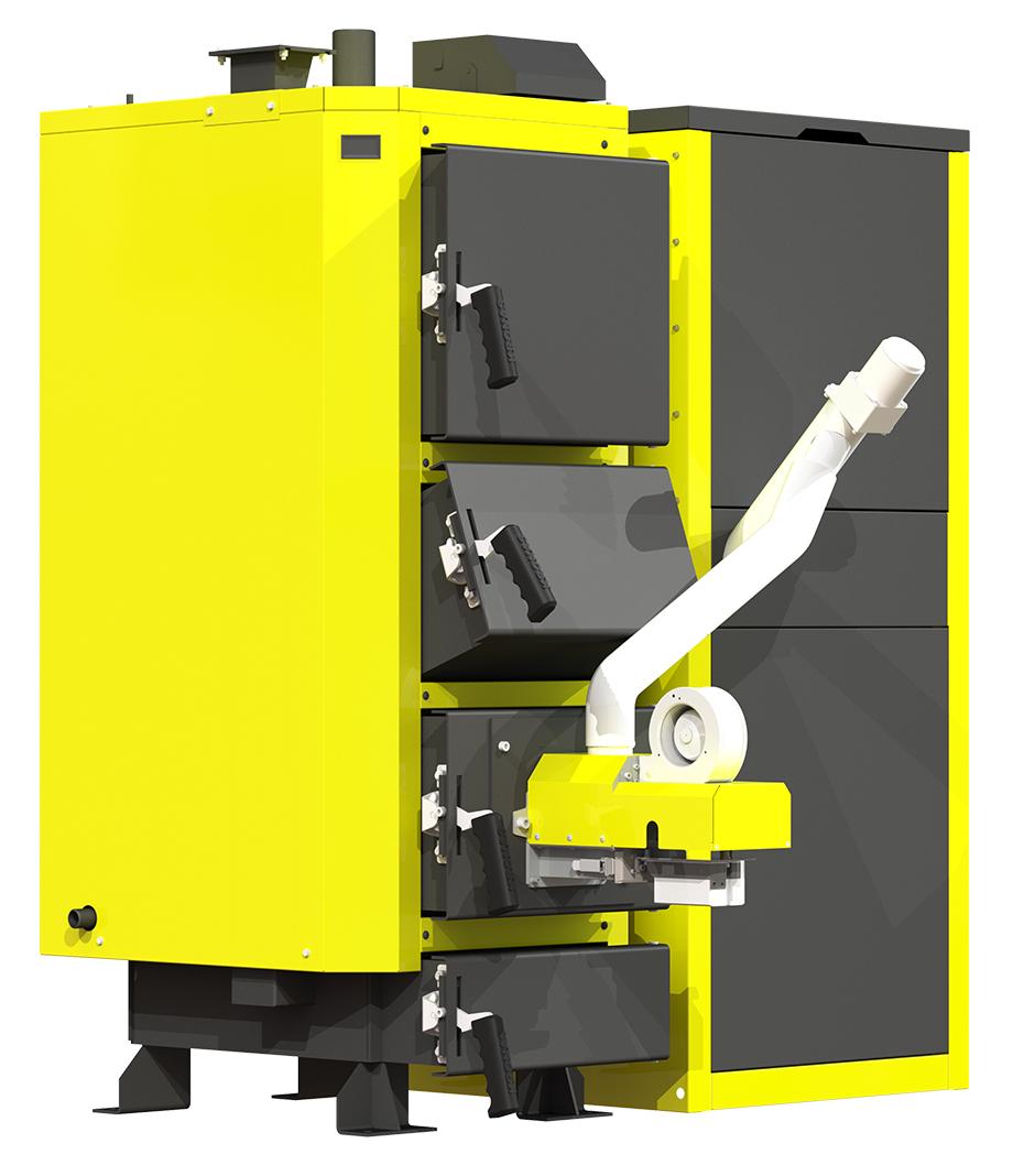 Пеллетный котел Kronas Pellets 17 кВт пожаробезопасный с автоматическим зажиганием и гашением