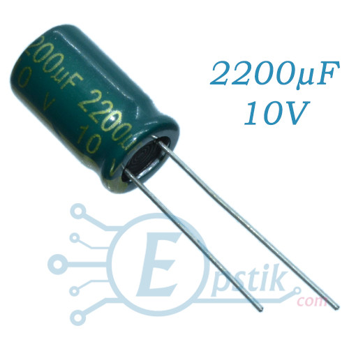 Конденсатор 2200uF 10V, (10*17) 105°C, Low ESR