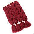 Однотонные косы канекалон 40 цветов палитра. Длина 60 ± 5 см Вес 100 ± 5 г Термостойкий коса Jumbo Braid, фото 3