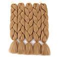 Однотонные косы канекалон 40 цветов палитра. Длина 60 ± 5 см Вес 100 ± 5 г Термостойкий коса Jumbo Braid, фото 8