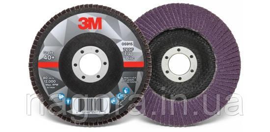 Лепестковый шлифовальный круг 3M™ 769F ø125мм*22мм 80+ конический (3M™ SILVER)