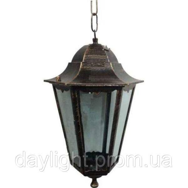 Подвесной уличный светильник на цепочке античное золото Lemanso PL6105