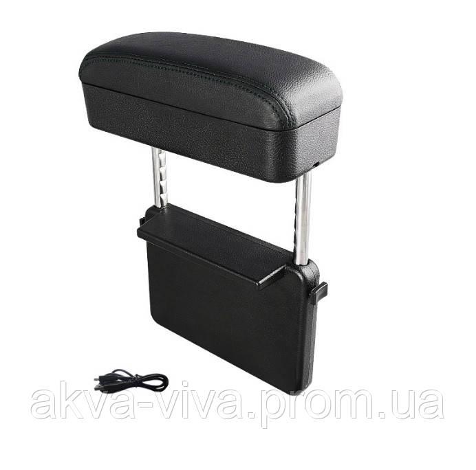 Органайзер – подлокотник в авто с беспроводной зарядкой для телефона (АО-206)